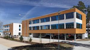Pohled na budovu vývojového centra