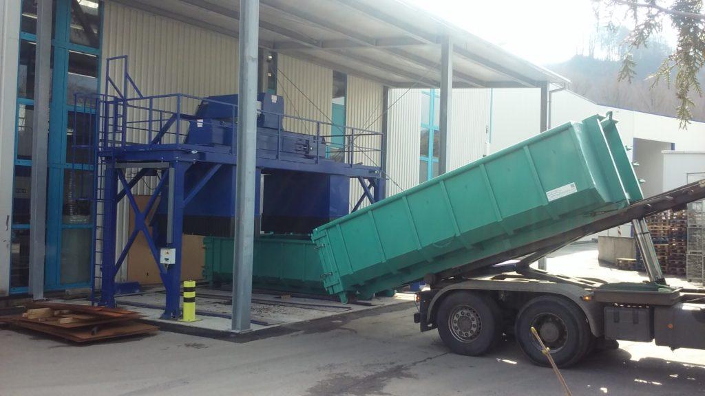 FISCHER & KAUFMANN - realizace a zkušební provoz první etapy třídění do kontejnerů